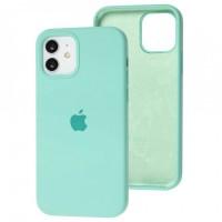 Чехол для iPhone 12 / 12 Pro Silicone Full бирюзовый / ice blue
