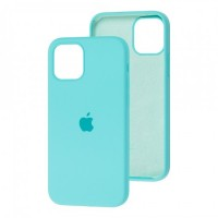 Чехол для iPhone 12 / 12 Pro Silicone Full sea blue