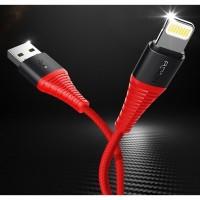 Кабель Rock Hi-Tensile Lightning USB Cable 2 m Red для iPhone/iPad/iPod/Macbook