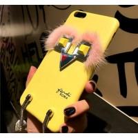 Чехол 3D FENDI желтый для iPhone 6/6S