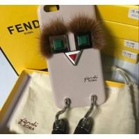 Чехол 3D FENDI бежевый для iPhone 6/6S