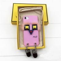 Чехол 3D FENDI розовый для iPhone 6/6S