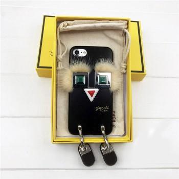 Чехол 3D FENDI черный для iPhone 6/6S