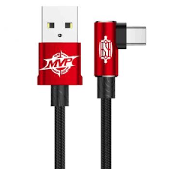 Кабель Baseus MVP Elbow Type-C to USB Cable 1M Red для iPhone/iPad/Macbook/смартфона/планшета
