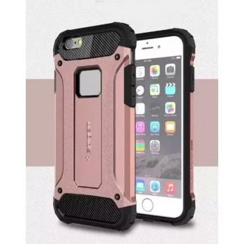 Чехол пластиковый Spigen Tough Armor Tech Rose Gold для iPhone 6/6S