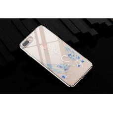 Чехол-накладка Kingxbar Swarovski Swan Series Silver для iPhone 8 Plus/7 Plus
