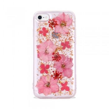 Чехол силиконовый SwitchEasy Flash прозрачный с розовыми цветами для iPhone 7/8