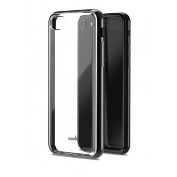 Чехол пластиковый Moshi Vitros Clear Protective Case Raven Black для iPhone 7/8