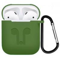 Чехол силиконовый Silicone Case Olive для Apple Airpods