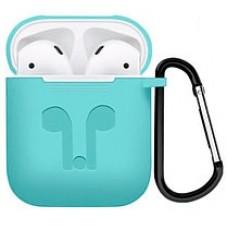 Чехол силиконовый Silicone Case Blue для Apple Airpods