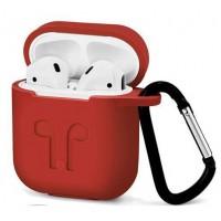Чехол силиконовый Silicone Case Red для Apple Airpods