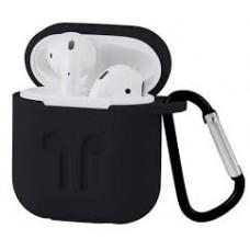 Чехол силиконовый Silicone Case Black для Apple Airpods