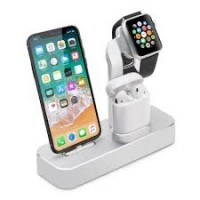 Док-станция Coteetci Base19 серебристая для iPhone/ Apple Watch/ Apple Airpods