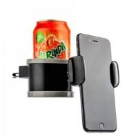 Автомобильный держатель с подстаканником Coteetci ST-07 черный для iPhone/смартфона