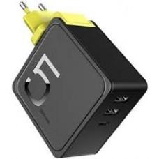 Внешний аккумулятор + сетевое зарядное устройство Rock Sugar 2-in-1 Power Bank 5000mAh Wall Charger Yellow для зарядки iPhone, iPad, iPod, Macbook, смартфона, планшета