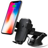 Автомобильный держатель iOttie Easy One Touch 4 Qi Wireless Fast Charging Black для iPhone/смартфона