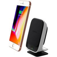 Автомобильный магнитный держатель iOttie iTap Wireless Fast Charging Magnetic BlackWhite для iPhone/смартфона