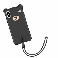 Чехол силиконовый Baseus 3D Bear Black для iPhone XR