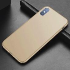 Чехол-накладка силиконовый Gold для iPhone XS Max