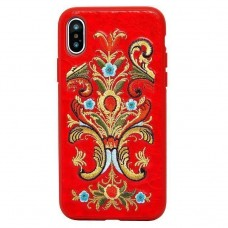 Чехол-накладка Luna Aristo ROS Series Red для iPhone X/XS