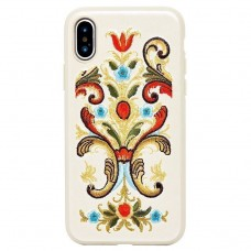 Чехол-накладка Luna Aristo ROS Series White для iPhone X/XS