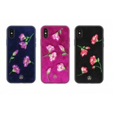 Чехол-накладка Luna Aristo Textil Flowers Dark Blue для iPhone X/XS