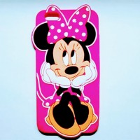 Чехол силиконовый Disney Cartoon 3D Cute Minnie Mouse Soft Silicone Rubber Back для iPhone 7/8