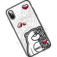 Чехол Rock Tempered Glass Bear для iPhone X/XS