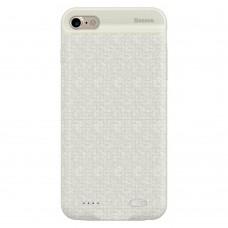 Чехол-аккумулятор Baseus Plaid Backpack 5000 mAh белый для iPhone 6/6S