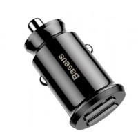 Автомобильная зарядка Baseus Grain Mini 2USB Smart Car Charger 3.1A Black для iPhone/iPod/iPad/Macbook/смартфона/планшета