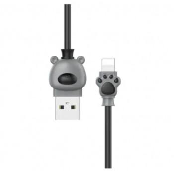 Кабель Baseus Bear Lightning USB Cable 1m Grey для Apple IPhone/IPad/IPod