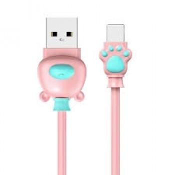 Кабель Baseus Bear Lightning USB Cable 1m Pink для Apple IPhone/IPad/IPod