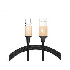 Кабель магнитный Baseus New Insnap Magnetic USB Type-C to USB Cable 3A 1m Gold для смартфона/планшета/гаджета