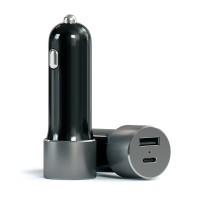 Автомобильное зарядное Satechi USB + Type C Grey для iPhone/iPod/iPad mini/iPad/MacBook/смартфона