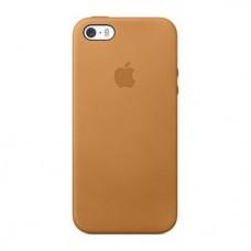 Чехол Apple Leather Case Brown для iPhone 5/5S/5SE