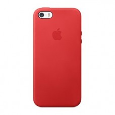 Чехол Apple Leather Case Red для iPhone 5/5S/5SE