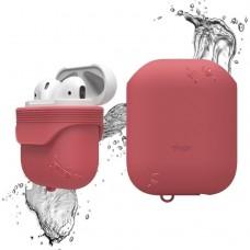 Чехол силиконовый Elago Silicone Waterproof Case красный для Apple Airpods