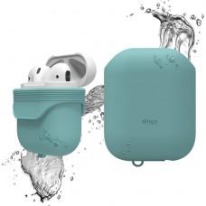 Чехол силиконовый Elago Silicone Waterproof Case бирюзовый для Apple Airpods