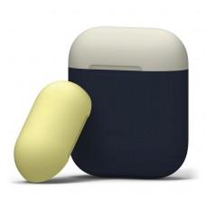 Чехол силиконовый Elago Silicone Duo Case синий для Apple Airpods