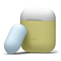 Чехол силиконовый Elago Silicone Duo Case желтый для Apple Airpods