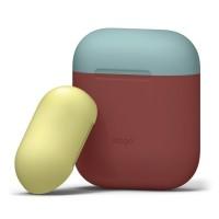 Чехол силиконовый Elago Silicone Duo Case красный для Apple Airpods