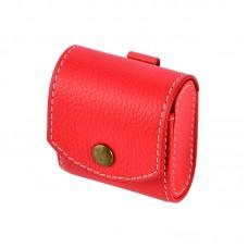 Чехол кожаный Coteetci красный для Apple Airpods