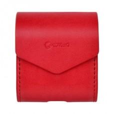 Чехол кожаный PU Coteetci красный для Apple Airpods