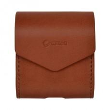 Чехол кожаный PU Coteetci коричневый для Apple Airpods