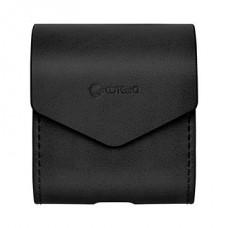 Чехол кожаный PU Coteetci черный для Apple Airpods