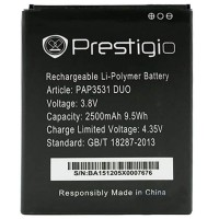Аккумуляторная Батарея АКБ ААА PSP3531 2500 mAh Li-Ion для Prestigio MULTIPHONE 3531 DUO