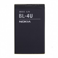 Аккумуляторная Батарея АКБ АА BL-4U 1000 mAh Li-Ion для Nokia 3120/ 500/5250/5330/5730/6212 Classic/ 6216 Classic/6300i/6600/8800/ 8800 Arte/8800 SE/Asha 300/Asha 305/Asha 306/ Asha 311/C5-03/C5-05/ E66/E75