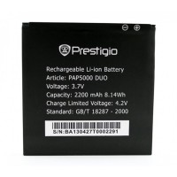 Аккумуляторная Батарея АКБ ААА PAP5000 2200 mAh Li-Ion для Prestigio MULTIPHONE 5000 DUO