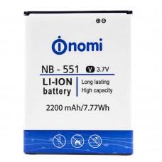 Аккумуляторная Батарея АКБ ААА NB-551 2200 mAh Li-Ion для Nomi i551