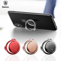 Попсокет кольцо-держатель Baseus Bear Type 360 Magnetic Kickstand Finger Ring Grip Holder 3 mm Metal Red для Apple iPhone/смартфона
